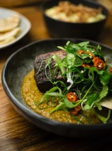 Short ribs with coriander and chillli.