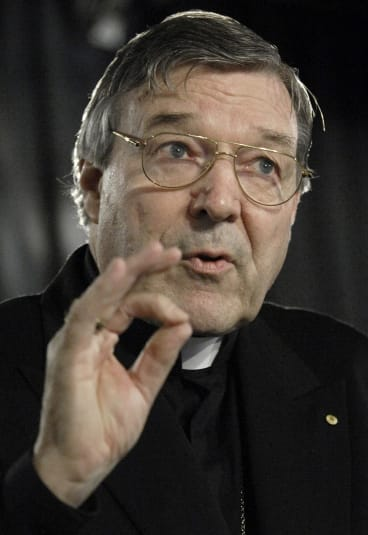 Cardinal George Pell speaks at the National Press Club in Canberra in October  2007, on the subject of World Youth Day.