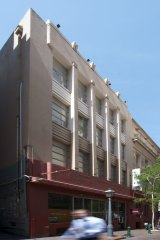 The art deco building at 12-14 McKillop Street.