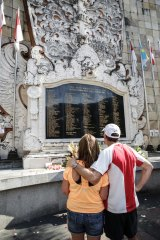 The Bali Bombing Memorial Monument  in Kuta on the 12th anniversary of the attacks.