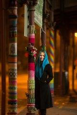 Anna Barden is a yarn-bomber.