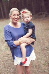 Kristy Withers with her daughter Polly.
