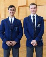 Knox Grammar School decathlon winners Kiano Ramcharan (left) and Peter Koch.