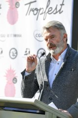 Actor Sam Neill slams NSW goverment's decisions on greyhound racing and lockout laws.