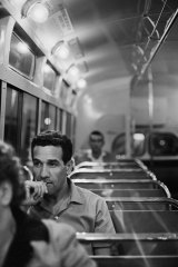 Charles Perkins travelling home from Sydney University, 1963.