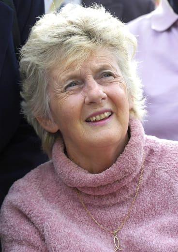 Betty Cuthbert at the turning of the sod ceremony at the planned new MS building in Blackburn.