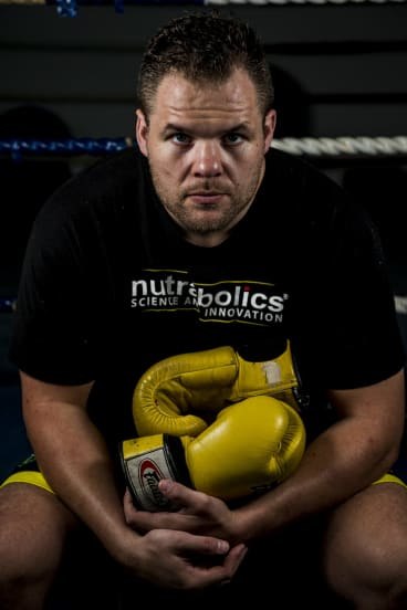 Fighting words: Canberra boxer Ben Edwards will fight for the Australian heavyweight title on Friday night.