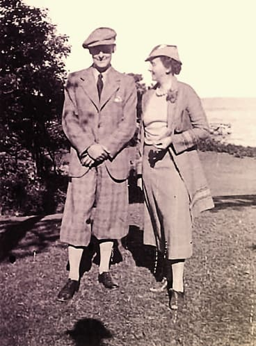 T.S. Eliot and Emily Hale in 1936. They met in 1913, but never married.