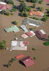 Homes in Ipswich inundated in 2011.