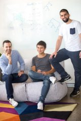 Mathspace co-founders Alvin Savoy, Chris Velis and Mohamad Jebara.