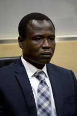 Dominic Ongwen in court in The Hague.