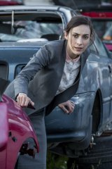 Geraldine Hakewill says when the audience first meets her character, Chelsea, she's very frightened of the world.