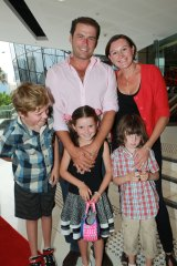 Karl Stefanovic and Cassandra Thorburn with their kids in 2011.