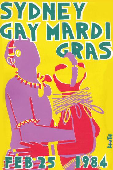 Allan Booth's 1984 Mardi Gras poster.