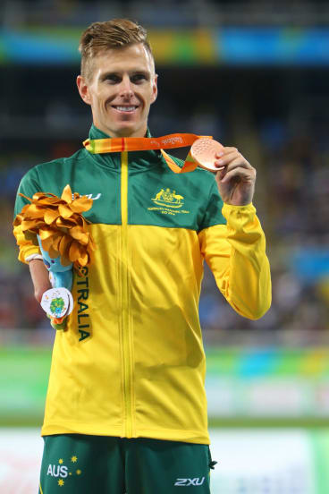 Roeger with his bronze medal at this year's Rio Paralympics.