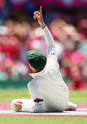 Smith appeared to blame Spidercam for his drop.