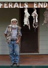 Bob Green at  the entrance to his aptly named home on Kangaroo Island.