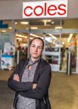Coles supermarket employee Penny Vickers is fighting Coles over back-pay.