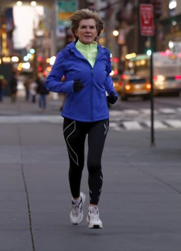 Me time: Julie Bishop on a New York jog.