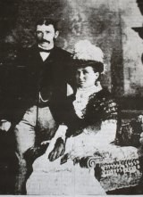 Murky truth: Louisa Collins and her second husband, Michael Collins.
