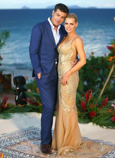 Sophie Monk with Stu Laundy.