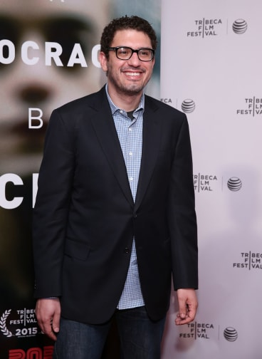 Sam Esmail, creator of <i>Mr Robot</i>, at the premiere of his show at the Tribeca Film Festival, New York, in April.