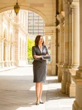 Palaszczuk, photographed at Parliament House in Brisbane.