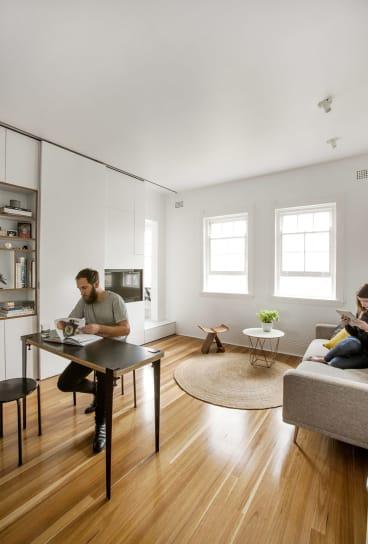 The apartment of architect, Brad Swartz