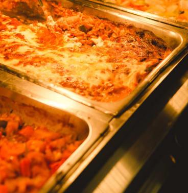 Nourishing: Vegetarian pasta bake at the St Kilda Mission.