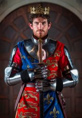 Shakespearean actor Chris Huntly-Turner in costume as Henry V.