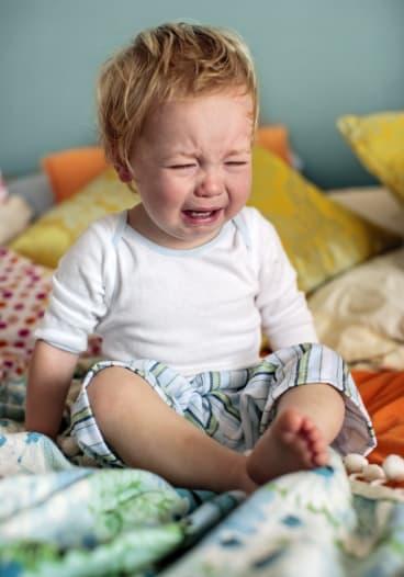 Tiny tears: a wee bairn crying over spilt milk. Possibly.