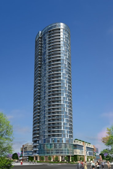 Renders of Finbar's Civic Heart mixed-use development, South Perth