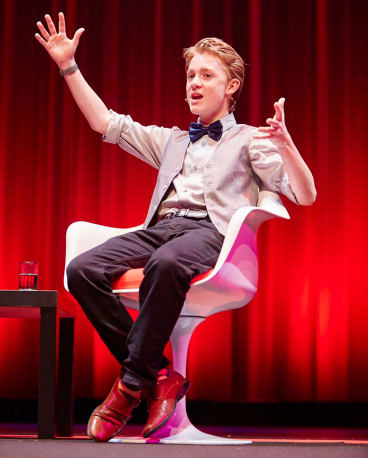 14-year-old US inventor Maxwell Loughan appeared at the Brisbane Science Festival.
