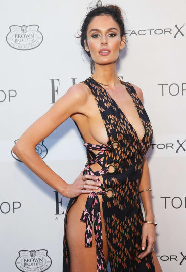 Nicole Trunfio in a sexy Ellery dress at the Elle Style Awards.