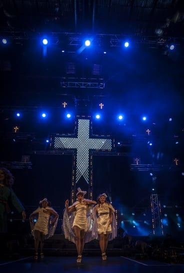 Dancing girls in Jesus Christ Superstar.
