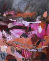'Nightfall Across The Flinders' 2015 by Pamela Honeyfield in 'Interconnected' at Form Studio and Gallery.