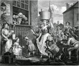 William Hogarth's The Enraged Musician.