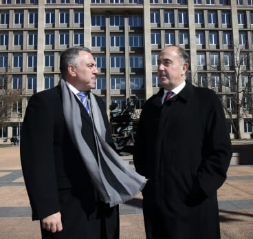 Treasurer Joe Hockey and Treasury Secretary John Fraser in budget week.