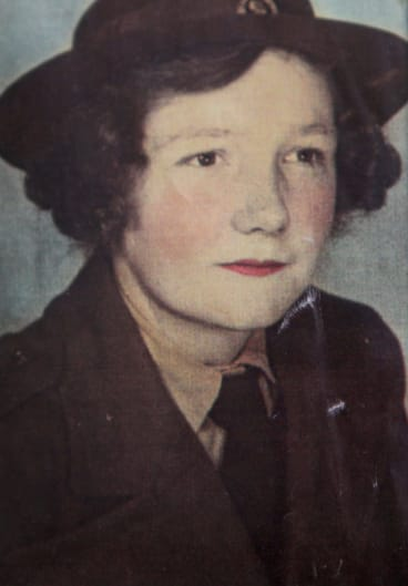 An old photo Mrs Doris Johnson in her army uniform.