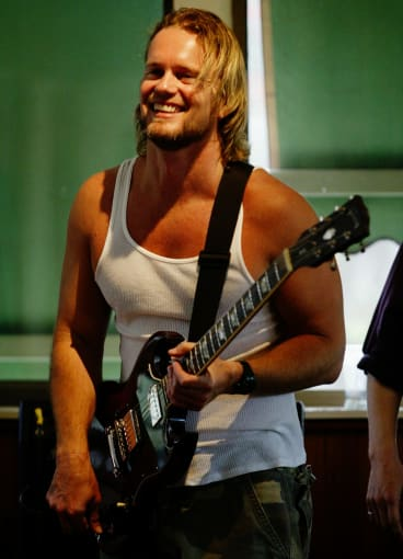 Craig McLachlan performing with the band Welter.