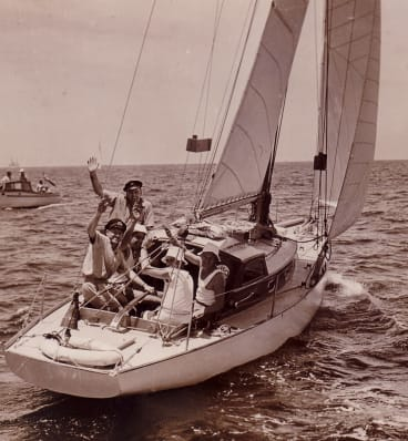 Saga in 1946, the year Magnus and Trygve took part in their first Sydney-Hobart race.