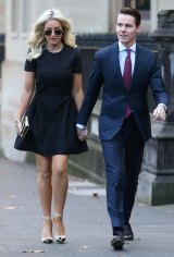 Oliver Curtis arrives with his wife Roxy Jacenko during his Supreme Court trial in May.
