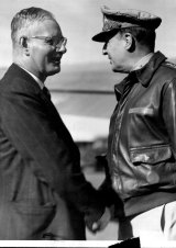 Prime Minister of Australia at war in the Pacific, Mr. John Curtin meets General MacArthur, American Commander-in-chief the South-west Pacific Area. May 31, 1974.