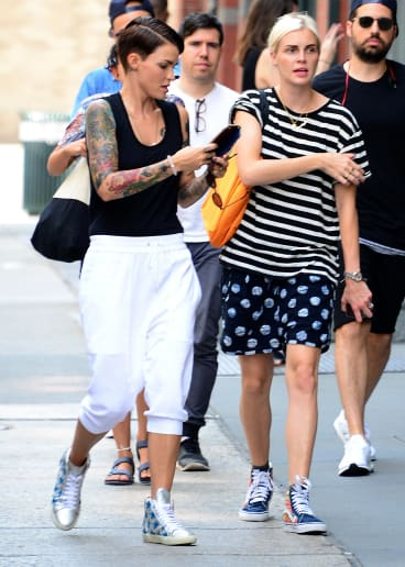 Ruby Rose and Phoebe Dahl in New York City.