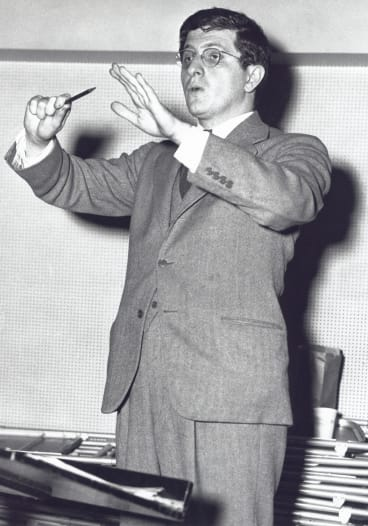 Composer Bernard Herrmann collaborated with Alfred Hitchcock on many of his most famous films.