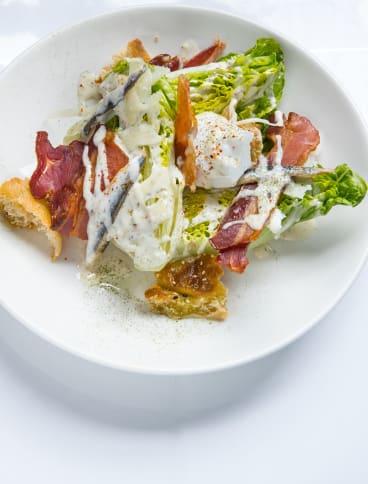 Caesar salad at the Cricketers Bar at the Windsor.