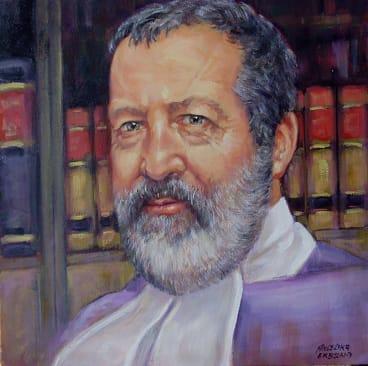 An oil painting of Judge Robert Toner by artist Angelika Erbsland.