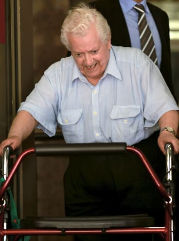 Former priest Wilfred Baker leaving court in 2013.