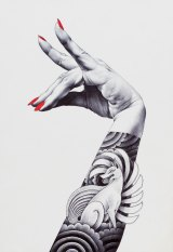 Shohei Otomo, Kitsune, 190x275mm ballpoint, manicure on illustration board.