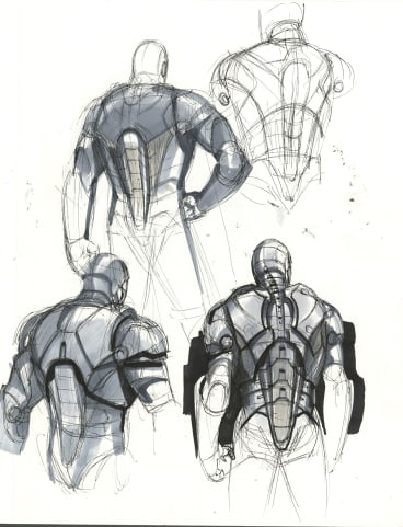 Phil Saunders, Iron Man Mark III no. 2,  concept art for Iron Man 2008.